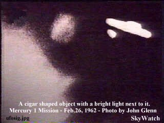 Cigar Shaped alien craft seen from the moon