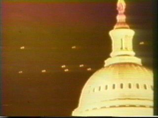 Flying Saucers ove the Capitol Building in 1955