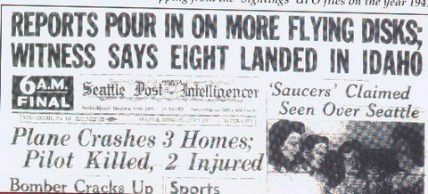 1947 Seattle Post UFO headline