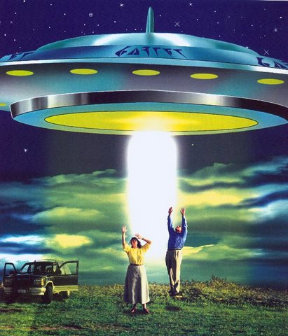 Aliens beam me up