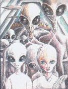 Many different alien beings may be on any ship.