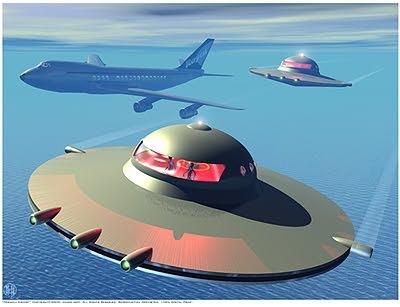 UFOs pacing passenger plane