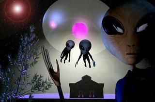 Aliens floating