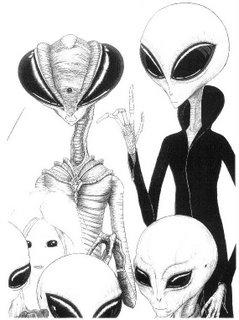 Space family of alien beings