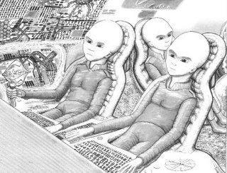 Drawing of Alien Cockpit From Roswell Crash