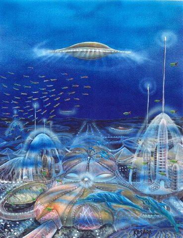 Underwater UFO base