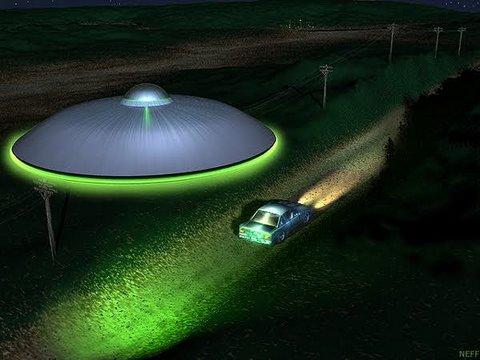 UFO tracking automobile