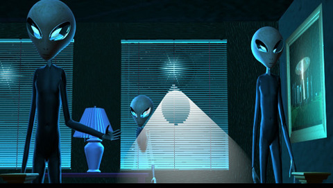 Aliens enter a home prior to an abduction