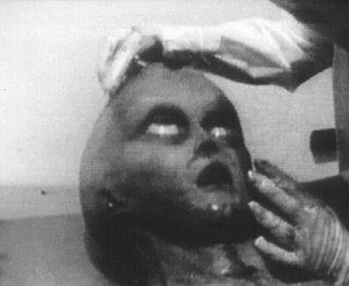 Photo of head from 'Alien Autopsy' film