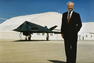 Ben Rich with Stealth fighter