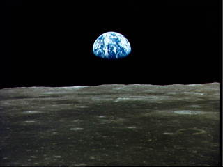 Photo of Earth taken from the moon