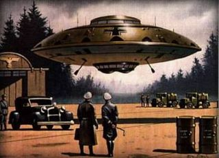 Did Hitler have an alien flying saucer?