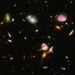 Section of Hubble Ultra Deep Field photo