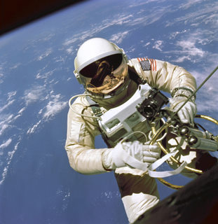 Astronaut James McDivitt in space