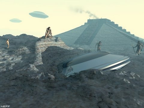 Crashed UFO in ancient times