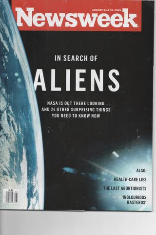 Nesweek cover featuring space aliens