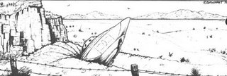 Crashed Alien Spacecraft in the Desert