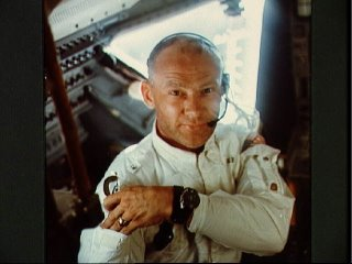 Astronaut Buzz Aldrin on Apollo 11