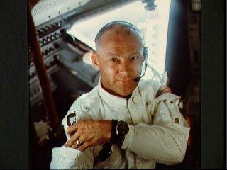 Astronaut Buzz Aldrin on Apollo 11