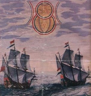 Ancient artwork depicting sailors seeing UFOs