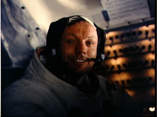 Astronaut Neil Armstrong on Apollo 11