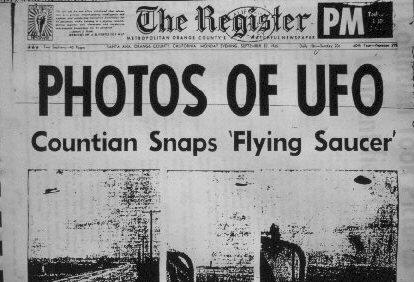 UFO Newspaper Headline