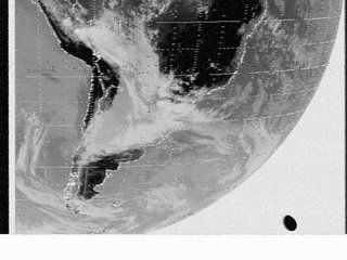 Flying Saucer appears in satellite photo